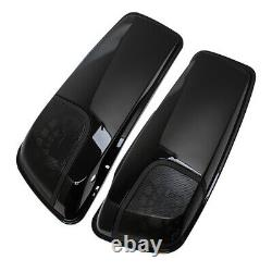 1 Pair Saddlebags Cover Speaker Lids For Harley Road King Electra Street Glide