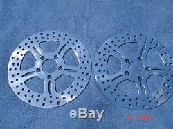 11.5 Star Dual Front Rotors Road King Street Glide Touring 00-07 Fltr