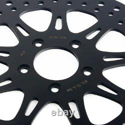 11.8 Black Front Brake Rotors For Harley Touring Road King Electra Street Glide