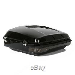 14-19 Chopped Tour Pack trunk withTail Light fit Harley Road King Street Glide