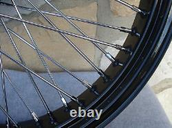 16x3.5 60 Spoke Black Front Wheel Harley Road King Street Glide Touring 00-07