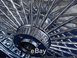 18x3.5 Diamond Fat Daddy 52 Spoke Front Wheel For Touring Road King Street Glide