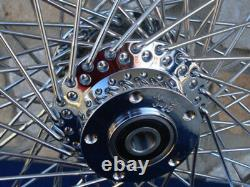 21x3.5 80 Spoke 08-up Abs Front Wheel For Harley Street Road King Glide Touring