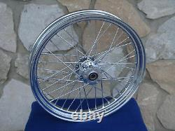23 X 3 40 Spoke Chrome Front Wheel 08-up Harley Road King Street Glide Touring