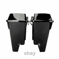 5 Stretched Extended Hard Saddle Bags For Street Glide Road King 93-2013