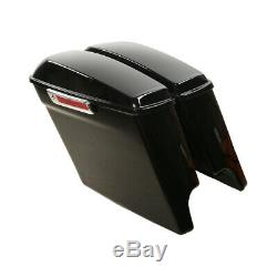5 Stretched Hard Saddlebags For Harley Touring Road King Street Glide 2014-2020