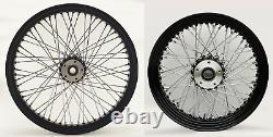 60 Spoke Black Wheel Set Front/rear Harley Electra Glide Road King Street 00-07