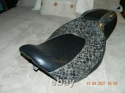 97-07 Harley Davidson Street Glide Road King Hammock Seat Snake Print