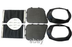 ABS 6x9 Speaker Lids for 2014-2020 Harley Saddlebags Street Road King Glide