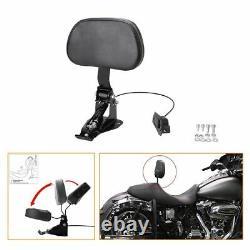 Adjustable Rider Backrest For Harley Touring Road King Street Glide FLTRX 09-19