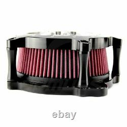 Air Cleaner Intake Filter For Harley Dyna Softail Touring Road King Street Glide
