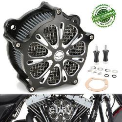 Air Cleaner Intake Filter For Harley Softail Dyna Touring Street Glide Road King