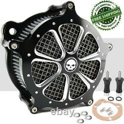 Air Cleaner Intake Filter For Harley Touring Road King Street Glide Dyna Softail