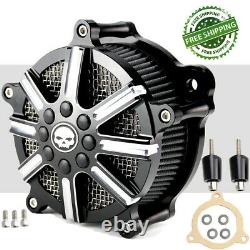 Air Cleaner Intake Filter Kit For Harley Touring Road King Street Glide Softail