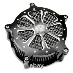 Air Cleaner Intake Filter System Kit For Harley Road King Electra Street Glide