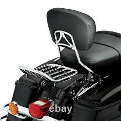 Backrest Sissy Bar With Luggage Rack For Harley Street Glide Road King 2009-2021