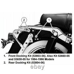 Backrest Sissy Bar and Docking Kit For Harley Road King Street Glide 1997-2008