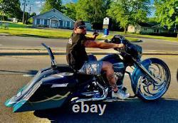 Backrest Sissy Bar for Harley Touring Road Street Electra Glide Road King Black
