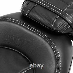 Black Driver Passenger Seat Fit For Harley Touring Road King Street Glide 2009+