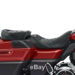 Black Driver Passenger Seat For Harley CVO Street Glide Road King FLHR 2009-2020