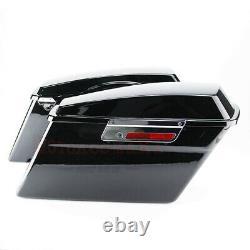 Black Hard Saddlebags For Harley Touring Electra Street Glide Road King 94-13 US