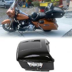 Black King Tour pack pak trunk for Harley 2014-2021 Touring Road Street Glide