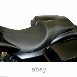 Black Low 2 Up Seat For Harley Electra Street Road Glide Road King Touring 08-19