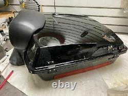 Black Tour pak Harley Bagger Chopped W pad FLHX Street glide Road King Classi FL