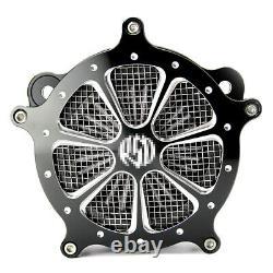 CNC Billet Air Cleaner Intake Filter For Harley Softail Street Glide Road King