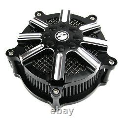 CNC Cut Air Cleaner Intake Filter For Harley Street Glide Road King FLHR 08-16