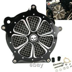 CNC Cut Air Cleaner Intake Filter For Harley Touring Road King Street Glide Dyna