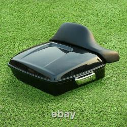 Chopped Pack Trunk Backrest Fit For Harley Tour Pak Road King Street Glide 14-21