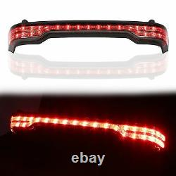 Chopped Tour Pack trunk withTail Light For Harley 14-20 Road King Street Glide