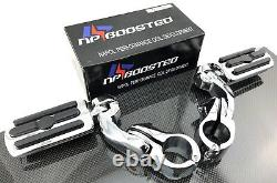 Chrome 1.25 Highway Foot Pegs Pedals For Harley Touring Road King Street Glide