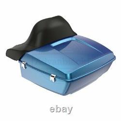 Daytona Blue King Tour Pack Pak For Harley Street Road Electra Glide 97+