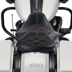 Driver Passenger Pillion Seat Fit For Harley Street Glide 09-20 Road King 09-20