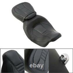 Driver Passenger Pillion Seat For Harley CVO Street Road King Glide 09-20 Black