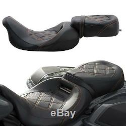 Driver Passenger Pillion Seat For Harley Street Glide Road Glide Road King 09-20