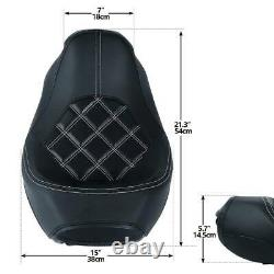 Driver Passenger Seat Fit For Harley CVO Road King Street Glide 2009-2021 2019