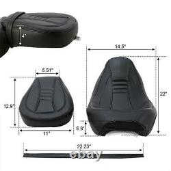 Driver Passenger Seat Set Fit For Harley Touring Street Glide Road King 09-20