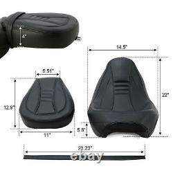 Driver Passenger Seat Set Fit For Harley Touring Street Glide Road King 09-20 18