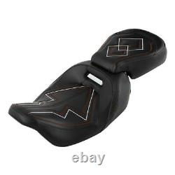 Driver & Passenger Two Up Seat For Harley Road King Street Electra Glide 09-2020
