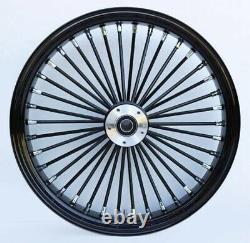 Fat Spoke 21 Front Wheel Black 08-13 Harley Electra Glide Road King Street