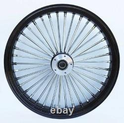 Fat Spoke 21 Front Wheel Black 21 X 3.5 Harley Electra Glide Road King Street