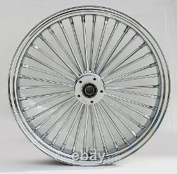 Fat Spoke 21 Front Wheel Chrome 21 X 3.5 Harley Electra Glide Road King Street