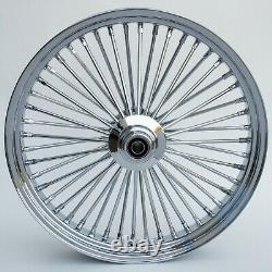 Fat Spoke 23 Front Wheel Chrome Harley Electra Glide Road King Street 2000-2007