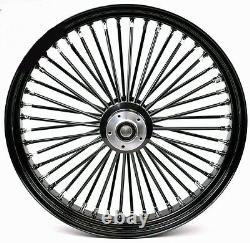 Fat Spoke 26 Big Wheel Front Black Harley Electra Glide Road King Street 00-07