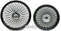 Fat Spoke 26 Front & 18 Rear Wheel Set Harley Electra Glide Road King Street