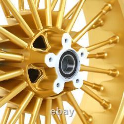 Fat Spoke Wheel Set 21x3.5 18x5.5 for Harley Road King Glide Street Glide 00-07