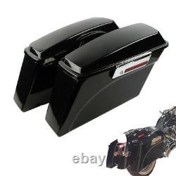 For 1994-2013 Road King Street Glide SaddleBags Hard Bags Vivid Black